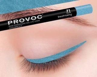 Купить Гелевая подводка в карандаше для глаз Provoc gel eye liner (PV0071, 71, бирюзовый, 1 шт), Provoc (Корея)