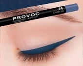 Гелевая подводка в карандаше для глаз Provoc gel eye liner (PV0074, 74, Темно-синий, 1 шт, 1 шт), Provoc (Корея)  - Купить
