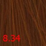 Купить Стойкая крем-краска Superma color (3834, 60/8.34, светлый блондин золотисто-медный, 60 мл, Золотистые тона), FarmaVita (Италия)