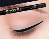 Купить Гелевая подводка в карандаше для глаз Provoc gel eye liner (PV0099, 99, Черный голографический, 1 шт, 1 шт), Provoc (Корея)