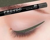 Купить Гелевая подводка в карандаше для глаз Provoc gel eye liner (Кошачий глаз, PV0080, 80, 1 шт, 1 шт), Provoc (Корея)