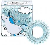 Купить Резинка для волос Invisibobble Original (Inv_10, 10, прозрачный с голубым, 3 шт), Invisibobble (Германия)