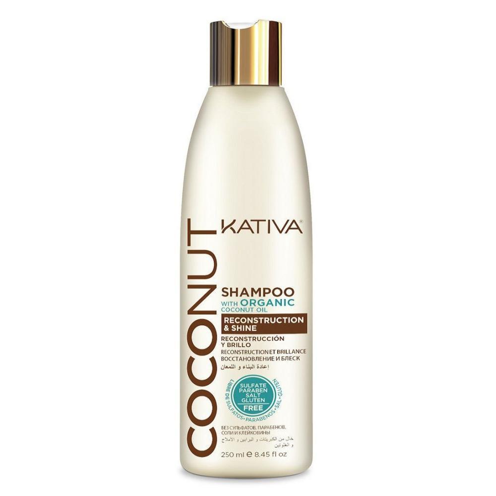 Купить Восстанавливающий шампунь с органическим кокосовым маслом для поврежденных волос Coconut (65840724, 250 мл), Kativa (Перу)