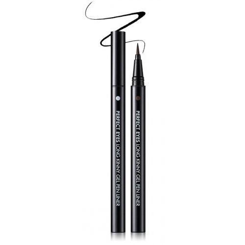 Гелевая подводка для век Perfect Eyes Long Kinny Gel Pen Liner (EM02017300, 01, черный, 0,6 г)