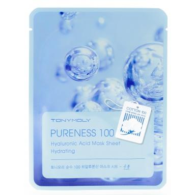 Тканевая маска для лица Гиалуроник Pureness 100 Hyaluronic Acid Mask Sheet2, TonyMoly (Корея)  - Купить