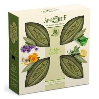 Купить Набор оливкового мыла Ароматные травы - с лавандой, с алоэ вера, с шалфеем и лимоном, Aphrodite (Греция)