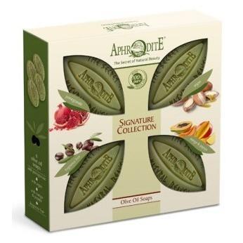 Купить Набор оливкового мыла Фирменная коллекция - с гранатом, с арганой, с манго и папайей, Aphrodite (Греция)