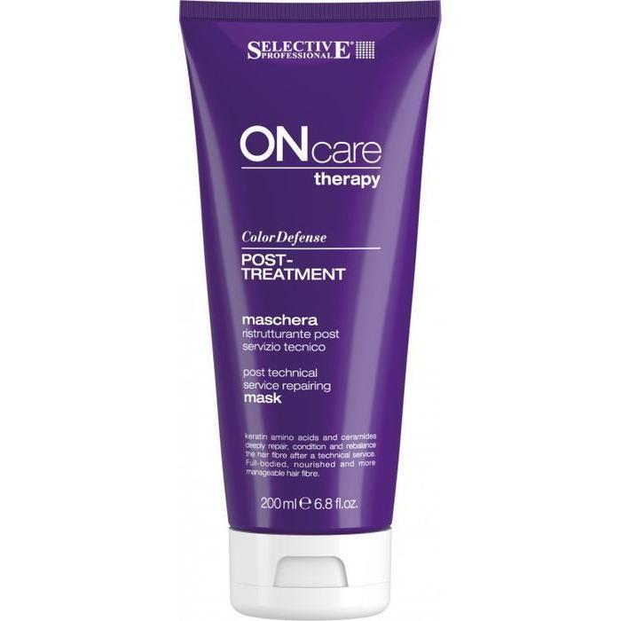 Купить Восстанавливающая маска для волос после химической обработки Color Defense Post Treatment (76575, 200 мл), Selective (Италия)