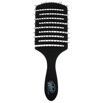 Прямоугольная щетка для быстрой сушки волос черная Flex Dry Paddle Black фото