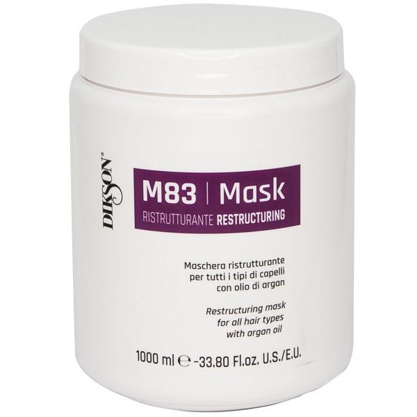 Купить Восстанавливающая маска для всех типов волос с аргановым маслом Mask Ristrutturante M83 (833, 1000 мл), Dikson (Италия)