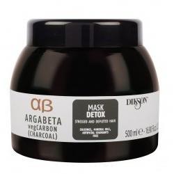 Купить Маска с растительным углем, маслами лаванды и иланг-иланга для волос подверженных стрессу Mask Detox (2544, 500 мл), Dikson (Италия)