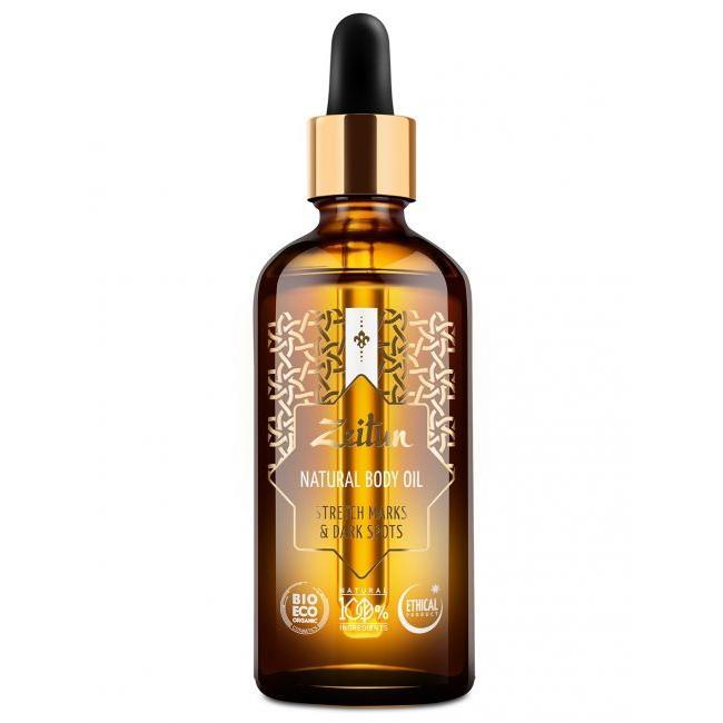 Купить Выравнивающее масло для тела Zeitun Authentic против растяжек и пигментации с лимоном и маслом ростков пшеницы, Zeitun (Иордания)
