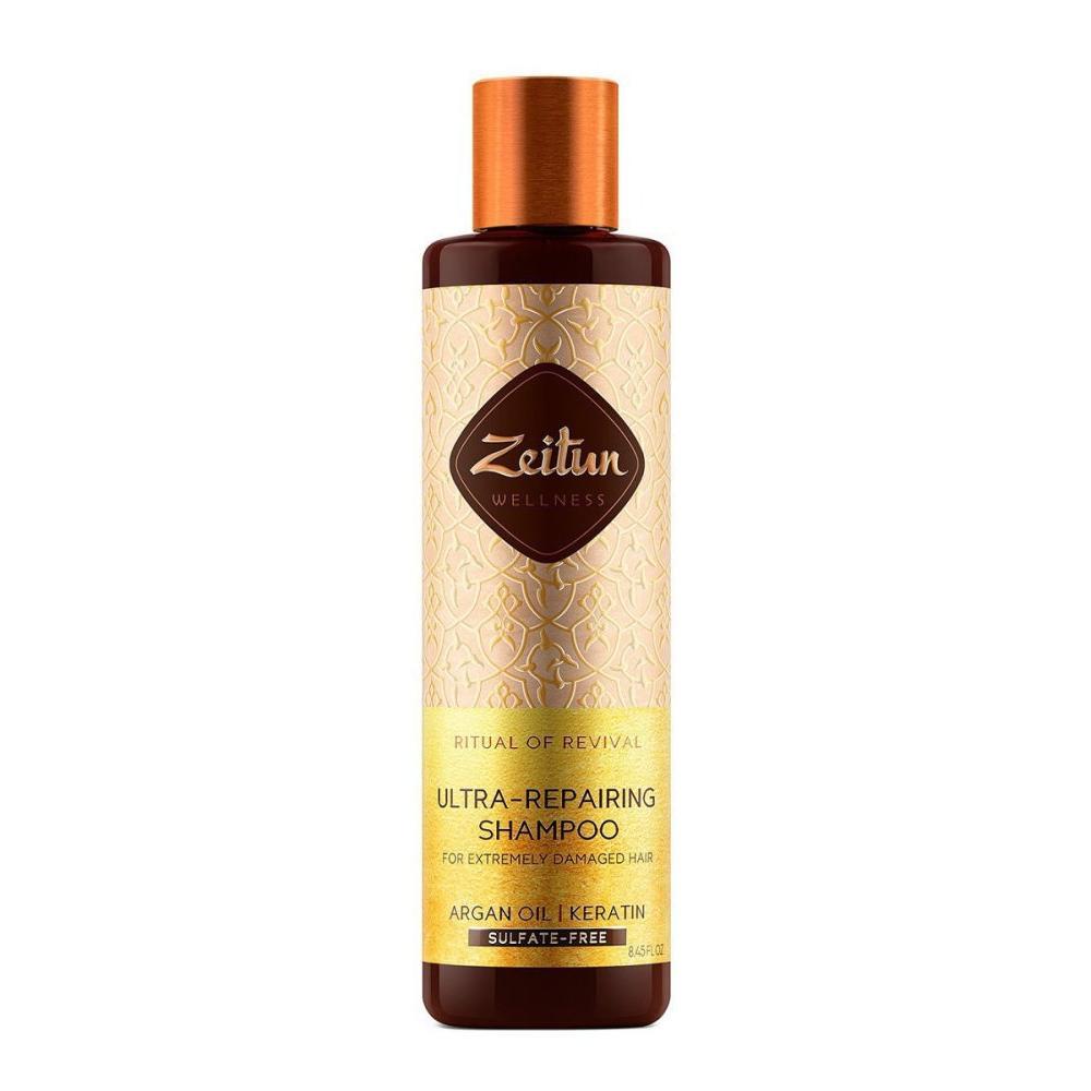Купить Шампунь для сильно поврежденных волос Ритуал восстановления с арганой и кератином, Zeitun (Иордания)