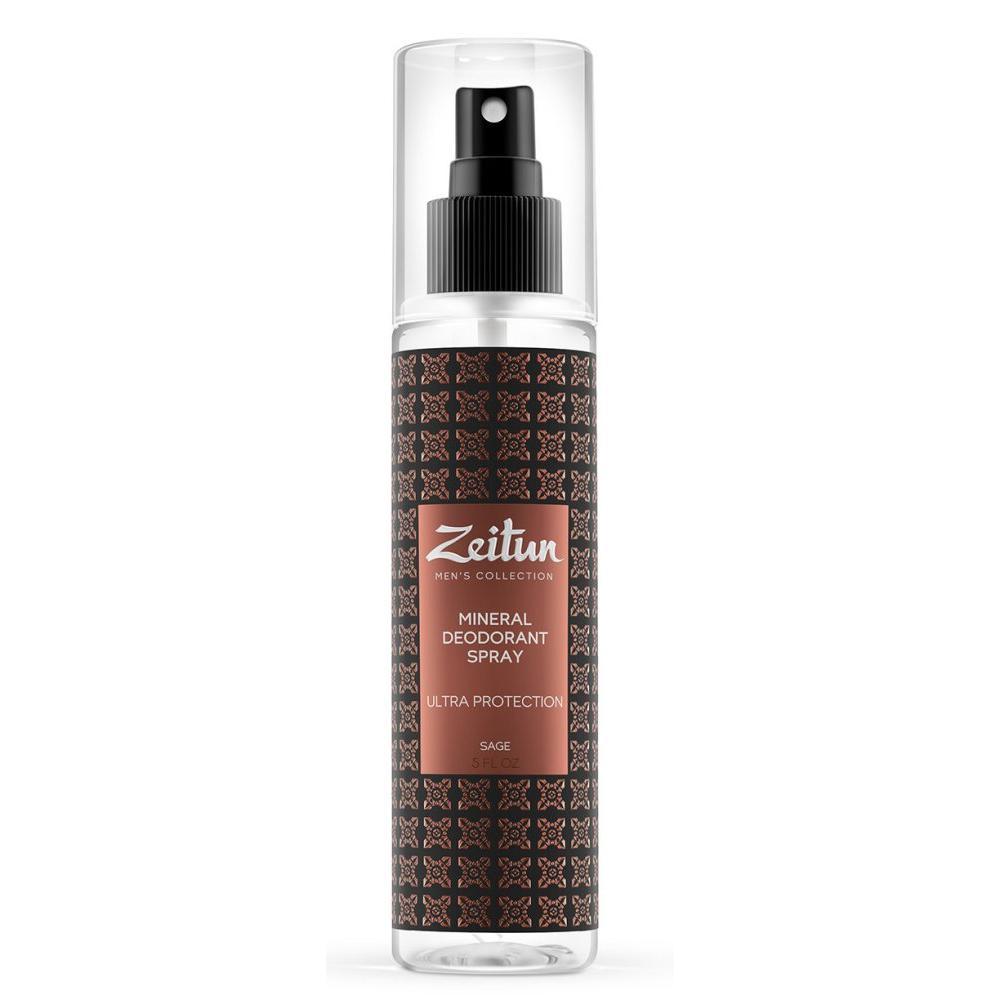 Купить Минеральный дезодорант-антиперспирант для мужчин с шалфеем Ультра-защита, Zeitun (Иордания)