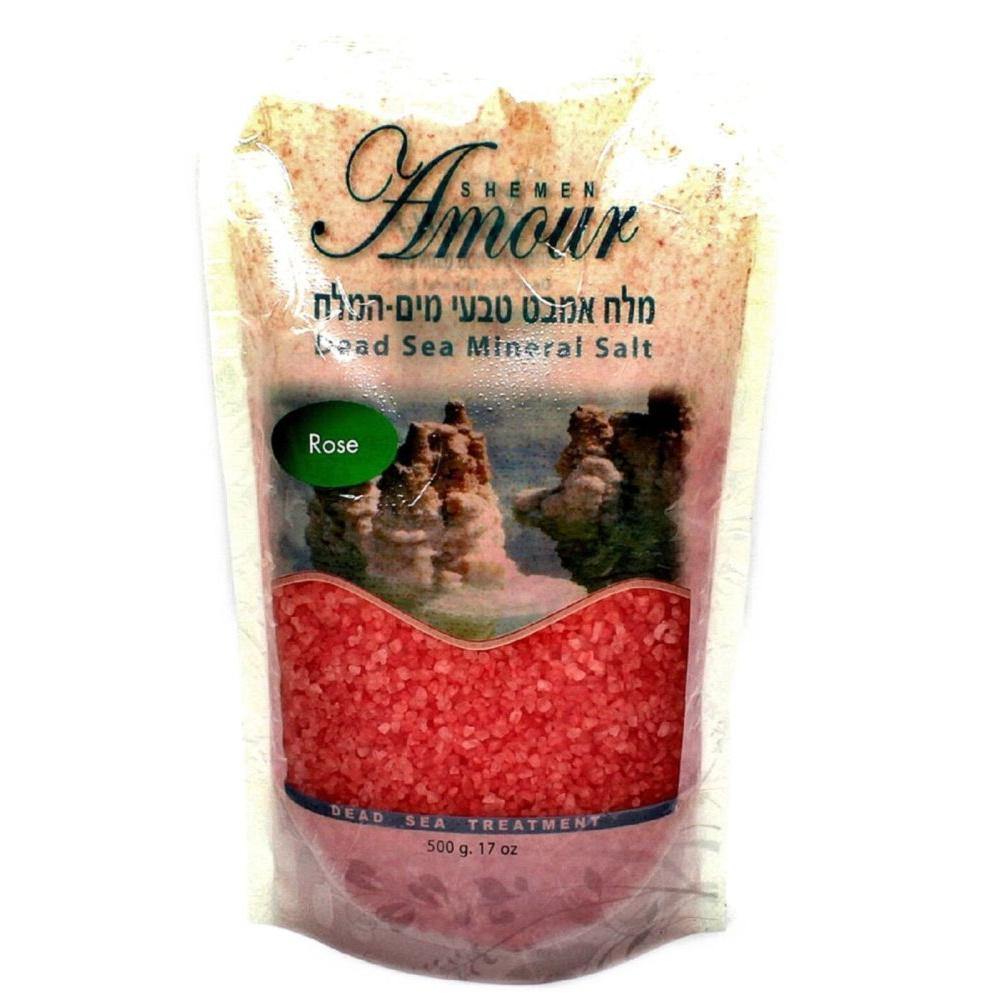Купить Соль Мертвого моря для ванны Роза, Shemen Amour (Израиль)
