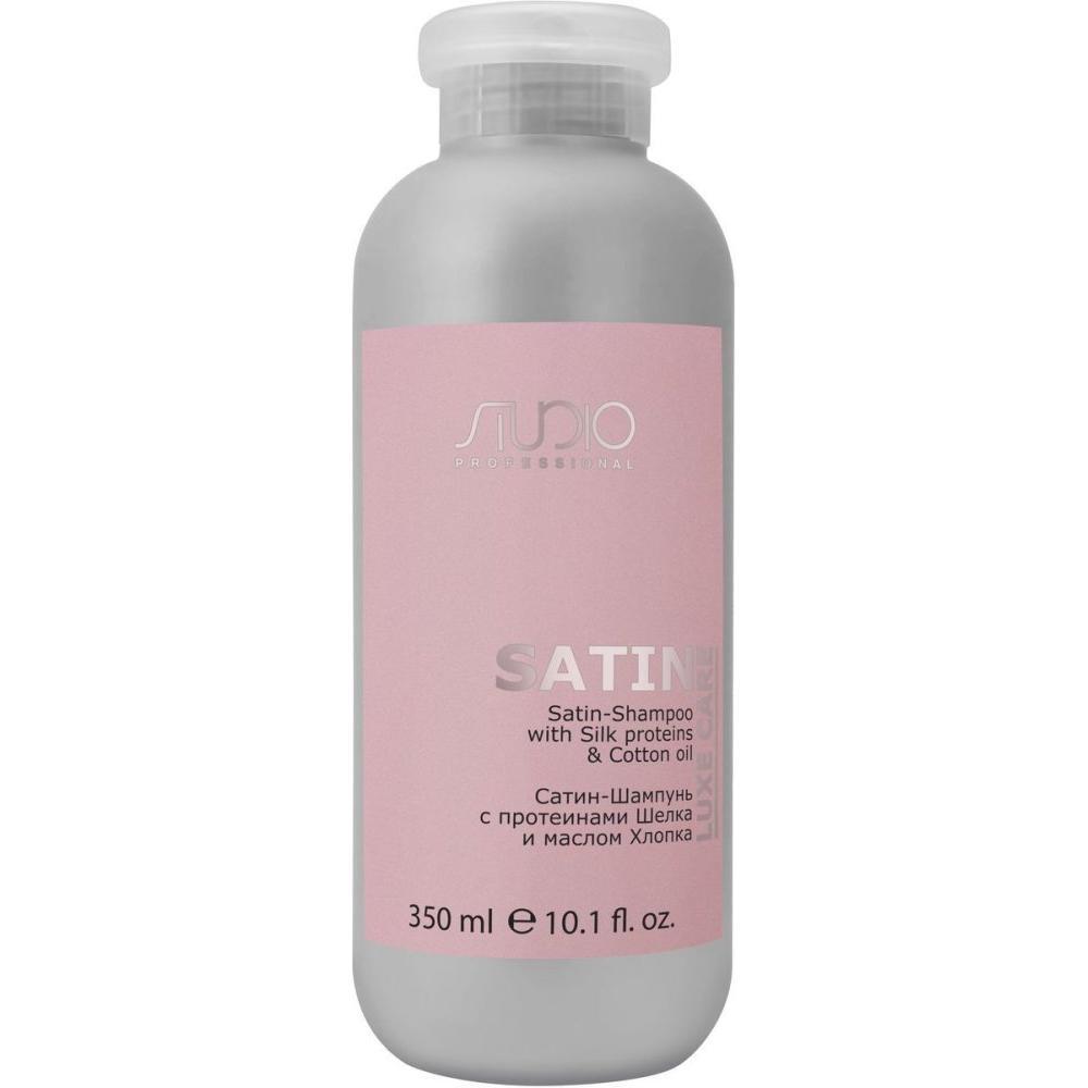 Сатин-Шампунь с протеинами шелка и маслом хлопка Luxe Care