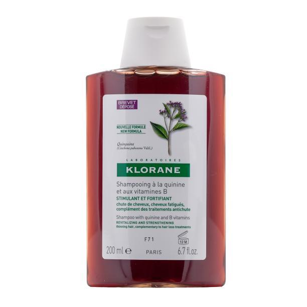 Купить Укрепляющий шампунь с экстрактом хинина и витаминами (C00762, 200 мл), Klorane (Франция)