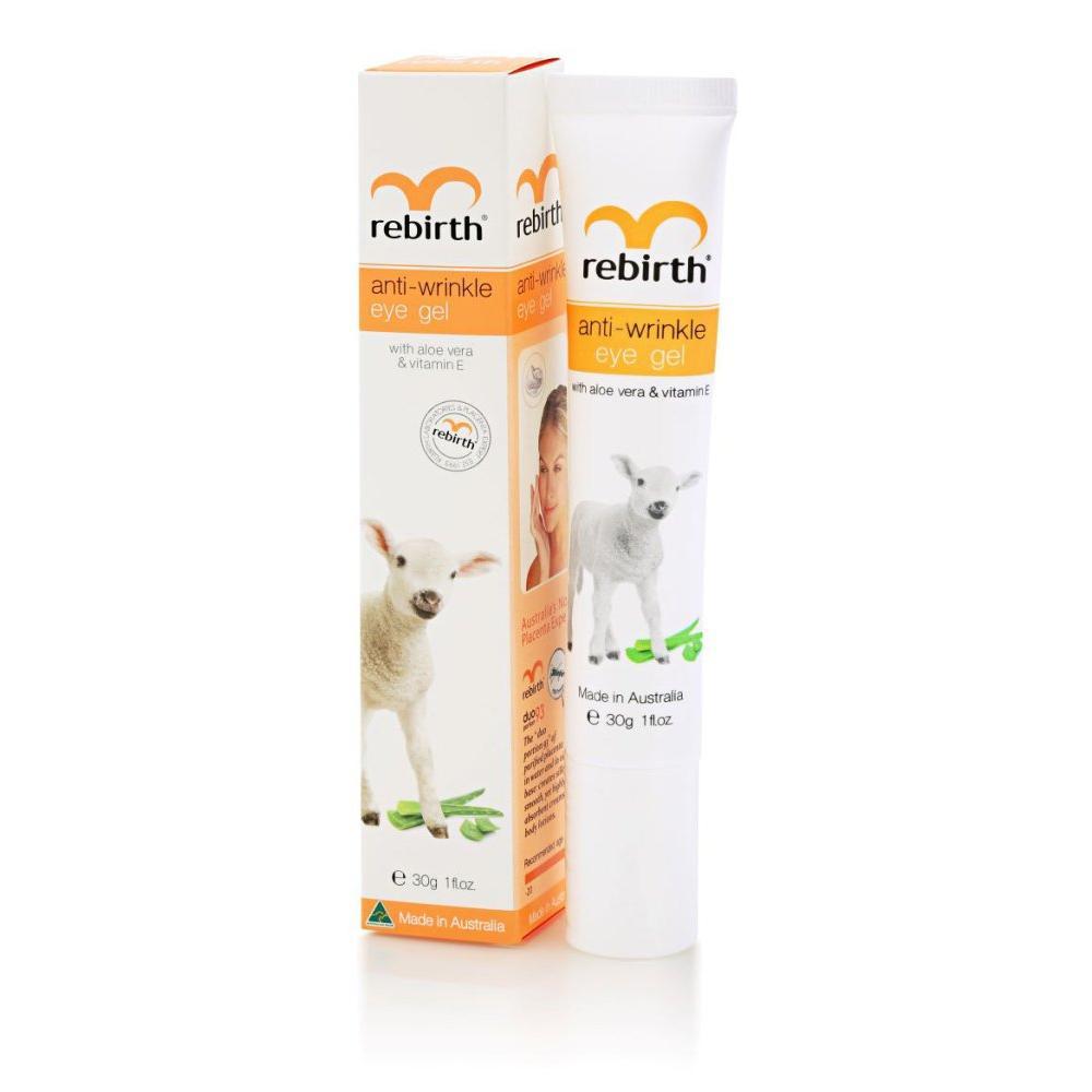 Купить Гель против морщин для кожи вокруг глаз с витамином Е и Алое Вера Anti Wrinkle Eye Gel Vitamin E, Rebirth (Австралия)