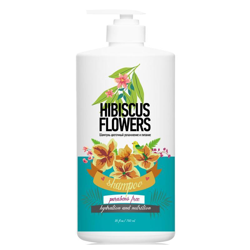 Купить Шампунь цветочный увлажнение и питание цветы гибискуса (ПФ119, 750 мл), Protokeratin (Россия)