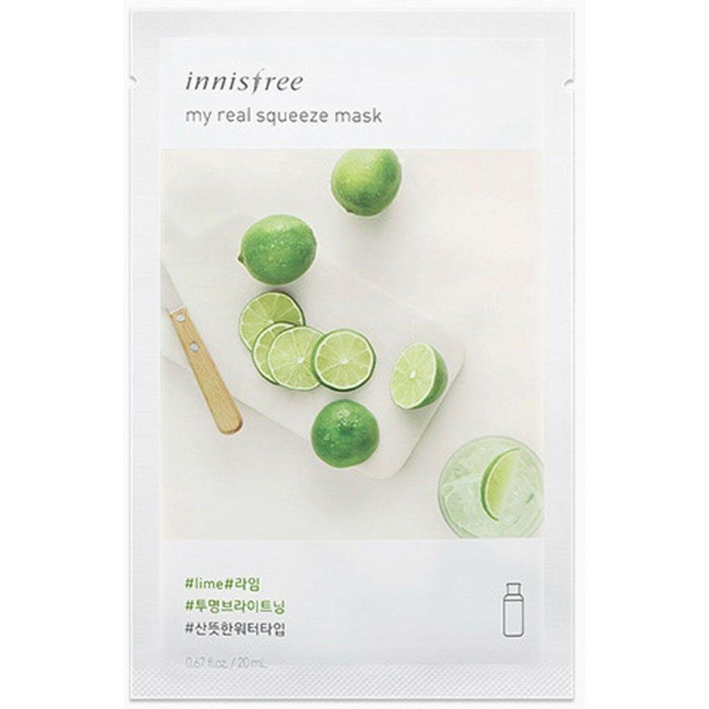 Купить Маска для лица It's real squeeze mask Lime, Innisfree (Корея)