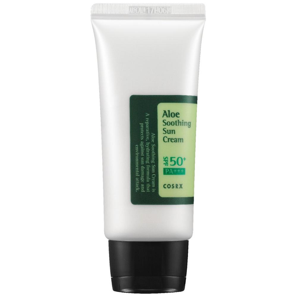 Солнцезащитное средство с алоэ для лица SPF 50 PA+++ Aloe Soothing Sun Cream фото