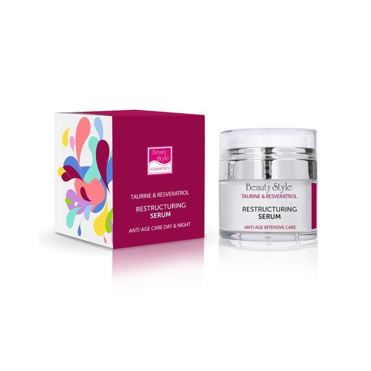Реструктурирующая уплотняющая сыворотка Taurine and Resveratrol (4516039PRO, 50 мл) Beauty Style
