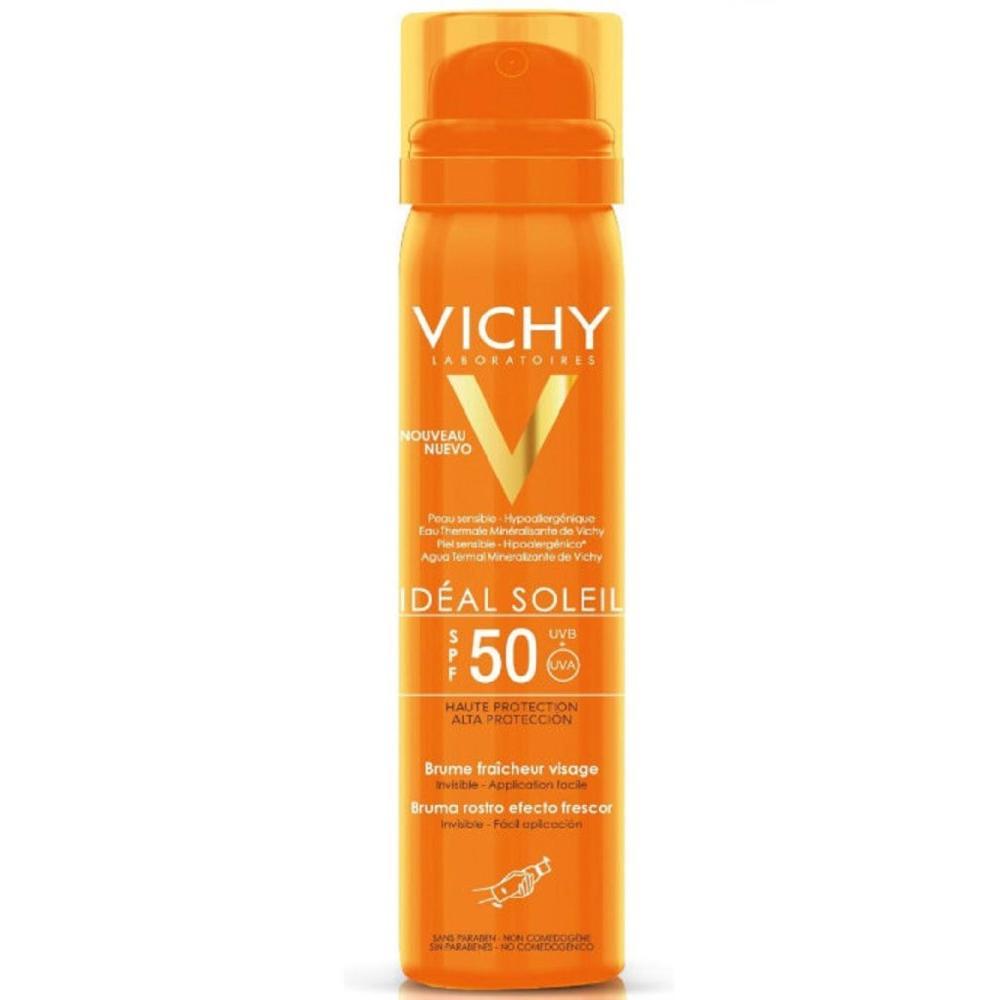 Освежающий спрей-вуаль для лица Vichy Capital Ideal Soleil SPF50