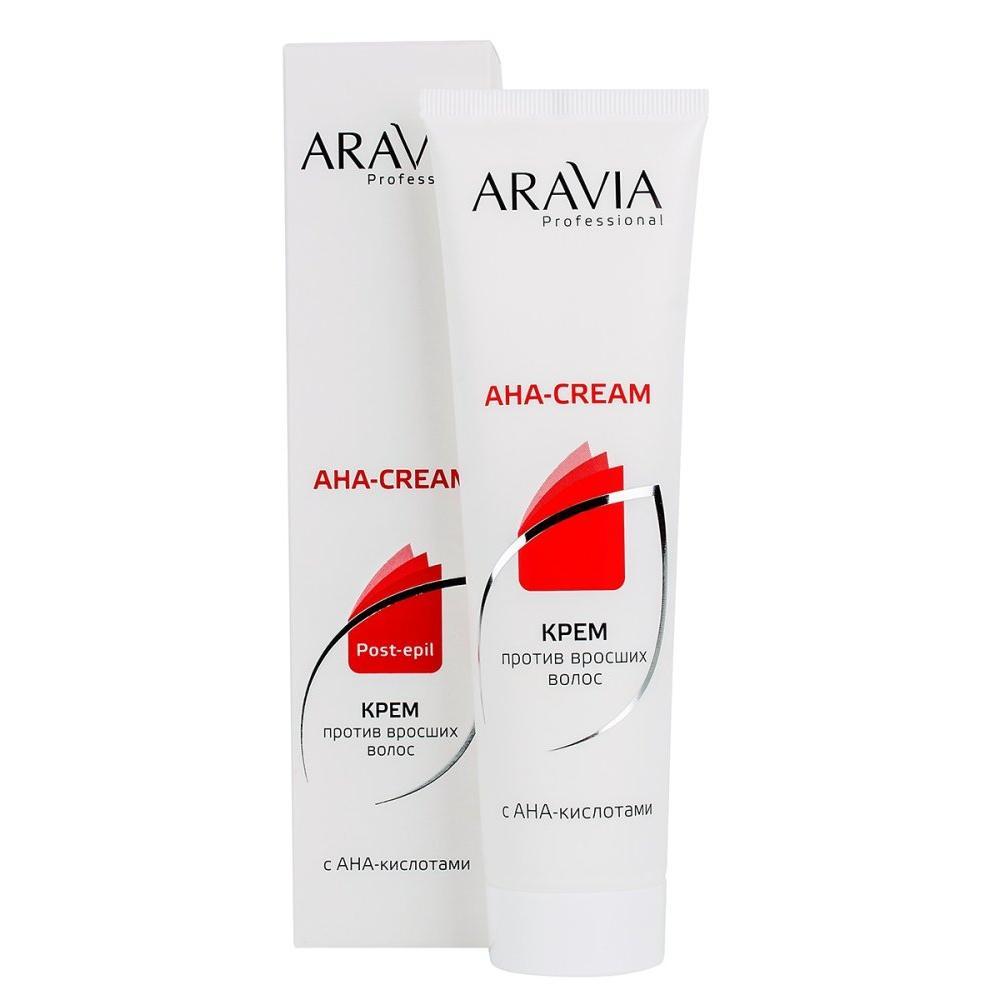 Крем против вросших волос с АНА кислотами в тубе Aravia