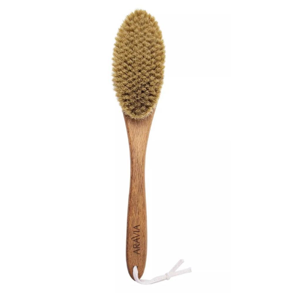 Мягкая щетка с натуральной щетиной для сухого массажа Aravia