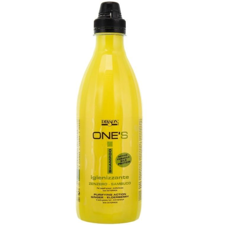 Балансирующий шампунь для жирных волос против перхоти One's Sampoo Iginizzante Dikson
