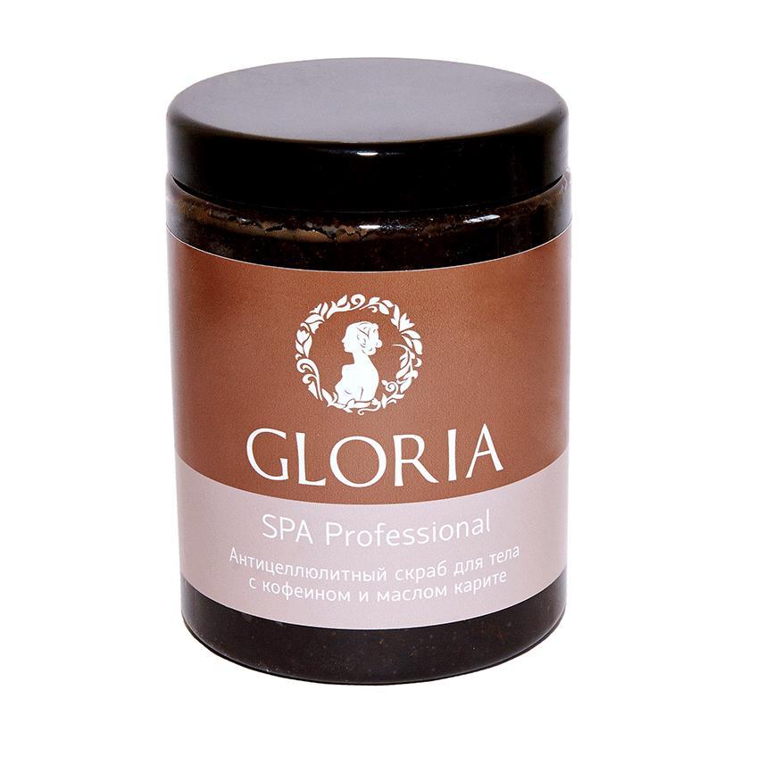 Купить Антицеллюлитный скраб для тела с кофеином (0448, 1000 мл), Gloria (Россия)