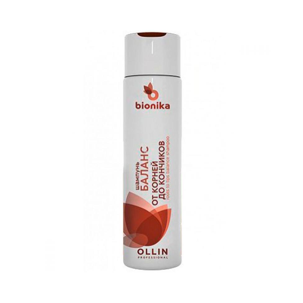 Купить Шампунь Баланс от корней до кончиков Roots To Tips Balance Shampoo Ollin BioNika (397298, 750 мл), Ollin Professional (Россия)