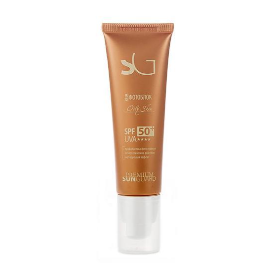 Купить Крем фотоблок для жирной кожи Оily Skin SPF 50, Premium (Россия)