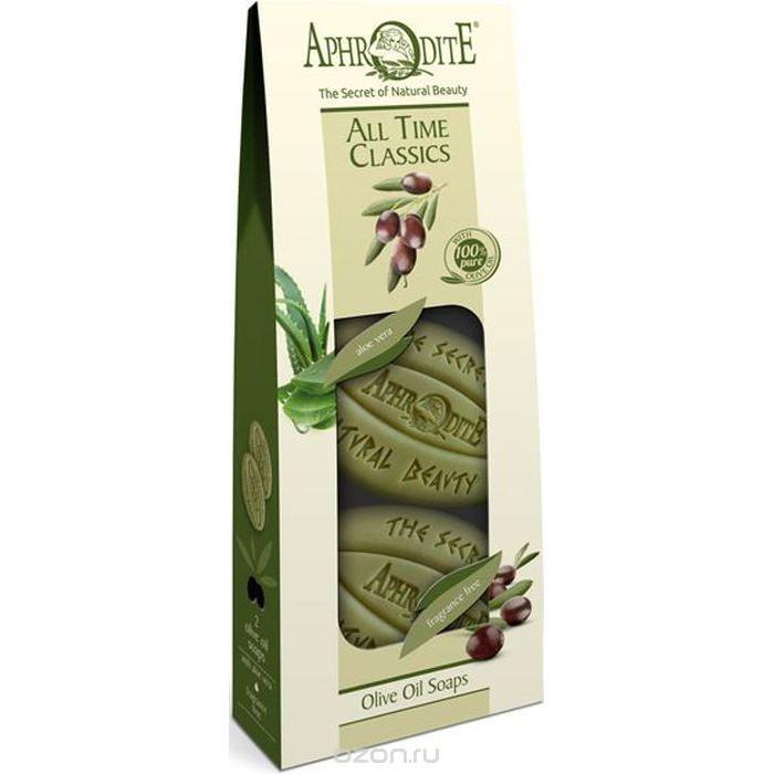 Купить Набор Оливкового мыла Классика на все времена с алоэ вера без отдушки, Aphrodite (Греция)