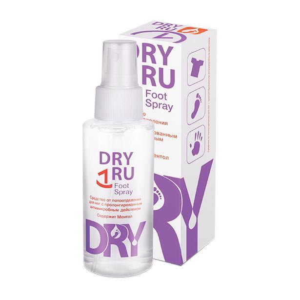 Средство против потливости ног Dry Ru Foot Spray фото