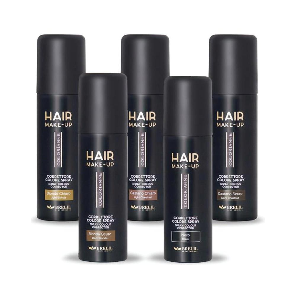 Купить Cпрей-макияж для волос Colorianne Make-Up (B013106, M106, красный, 75 мл), Brelil (Италия)