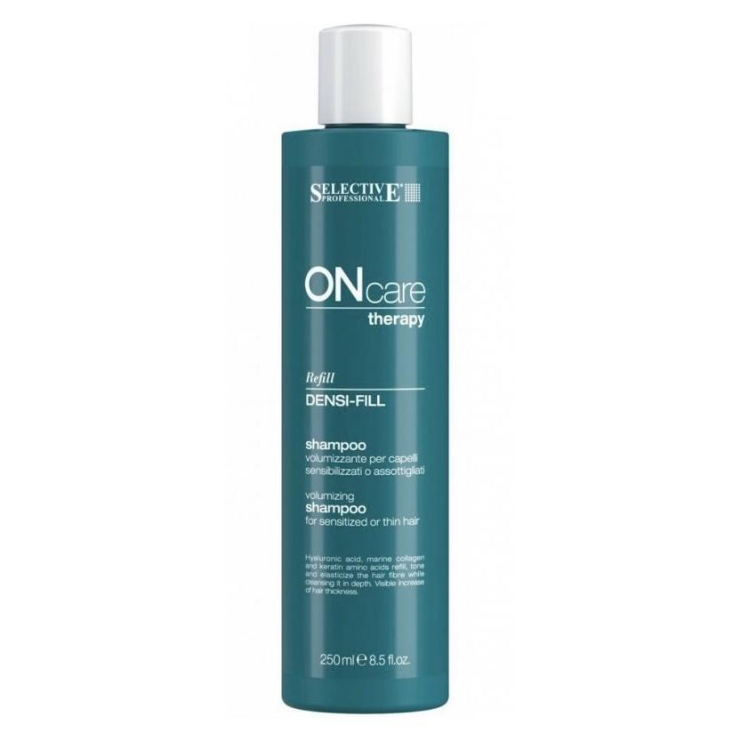 Купить Шампунь филлер для ухода за поврежденными и тонкими волосами Densi-fill Shampoo, Selective (Италия)