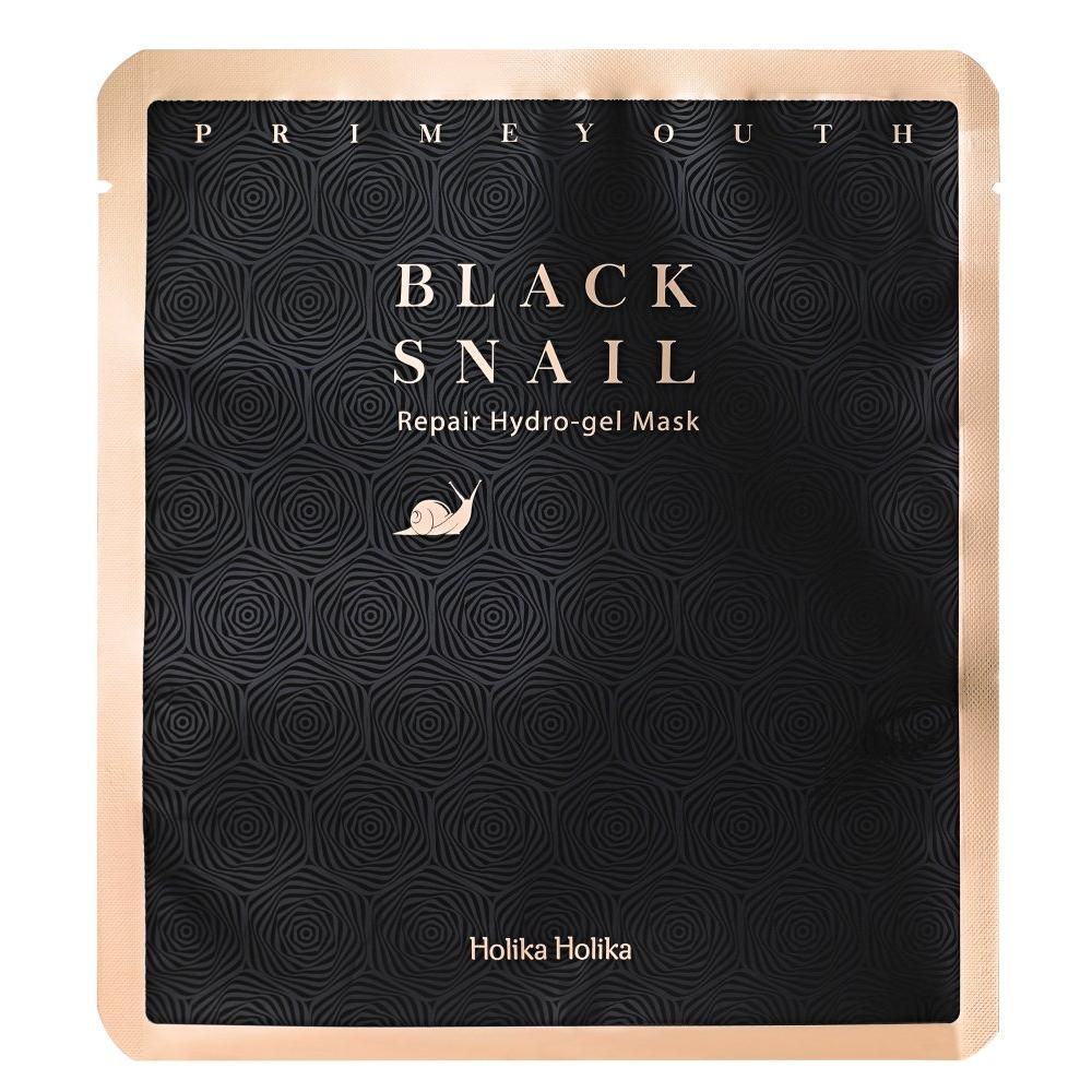 Купить Гидрогелевая маска с муцином черной улитки Prime Youth Black Snail Repair Hydrogel Mask, Holika Holika (Корея)