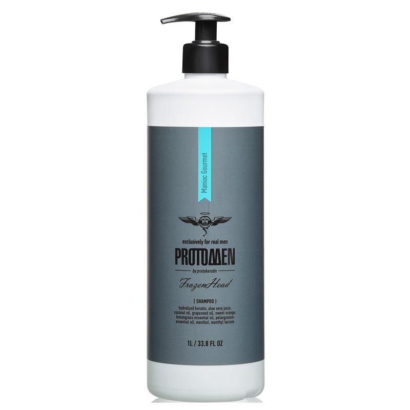 Мужской крио-шампунь для душа Frozenhead Protokeratin