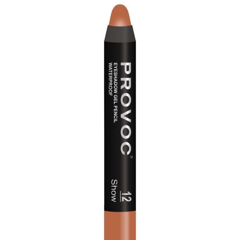 Тени-карандаш водостойкие Provoc Eyeshadow Pencil (PVEP12, 12, медный шиммер, 1 шт) фото