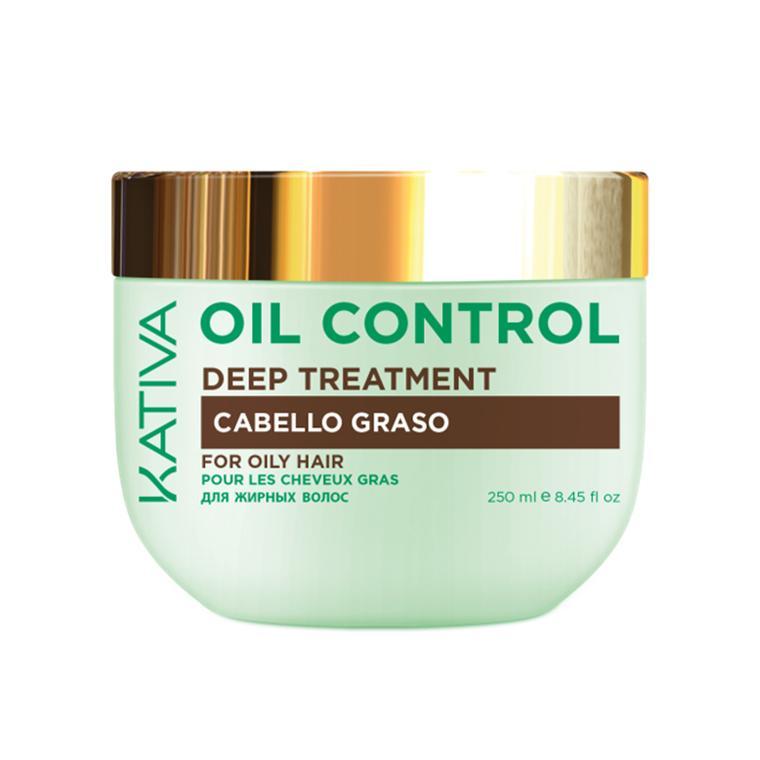Маска Контроль интенсивный уход для жирных волос Oil Control Kativa