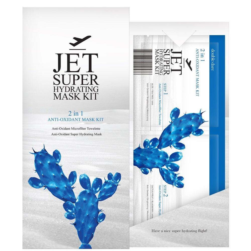 Купить Двухкомпонентный комплекс масок с антиоксидантами Очищение и Увлажнение Double Dare Jet, Double Dare OMG (Корея)