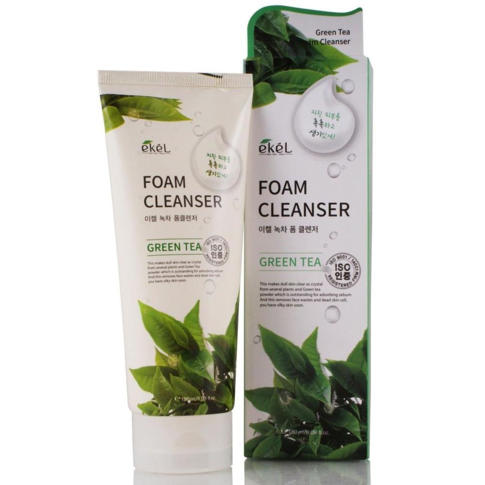 Купить Пенка для умывания с экстрактом зеленого чая Ekel Green Tea Foam Cleanser, Ekel (Корея)