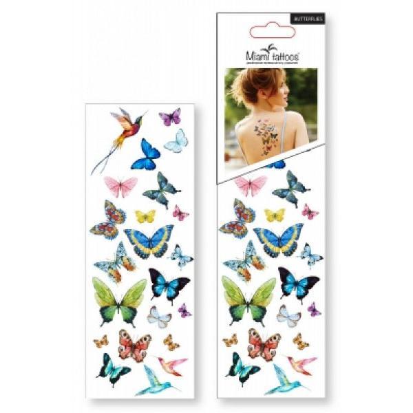 Временные татуировки - набор Бабочки