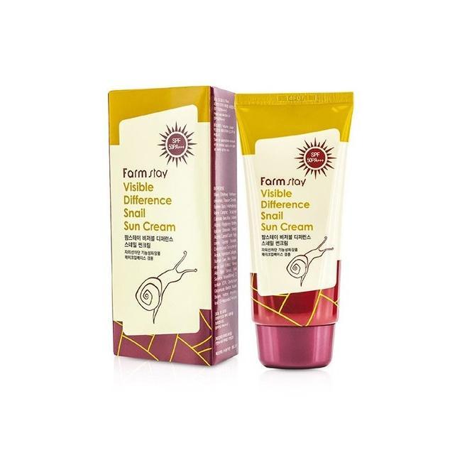 Солнцезащитный крем с экстрактом улитки SPF50 PA+++ FarmStay