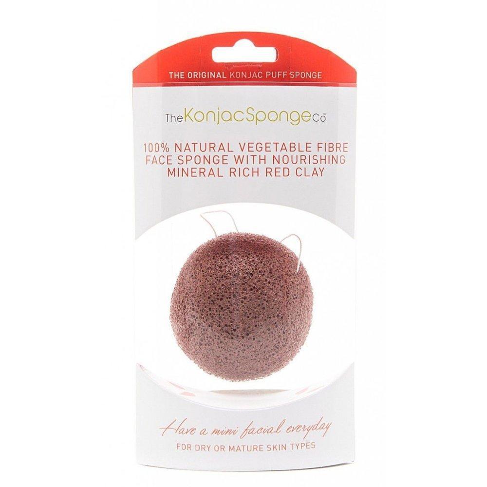 Купить Спонж для умывания лица Facial Puff Konjac Sponge Red Clay, The Konjac Sponge (Великобритания)