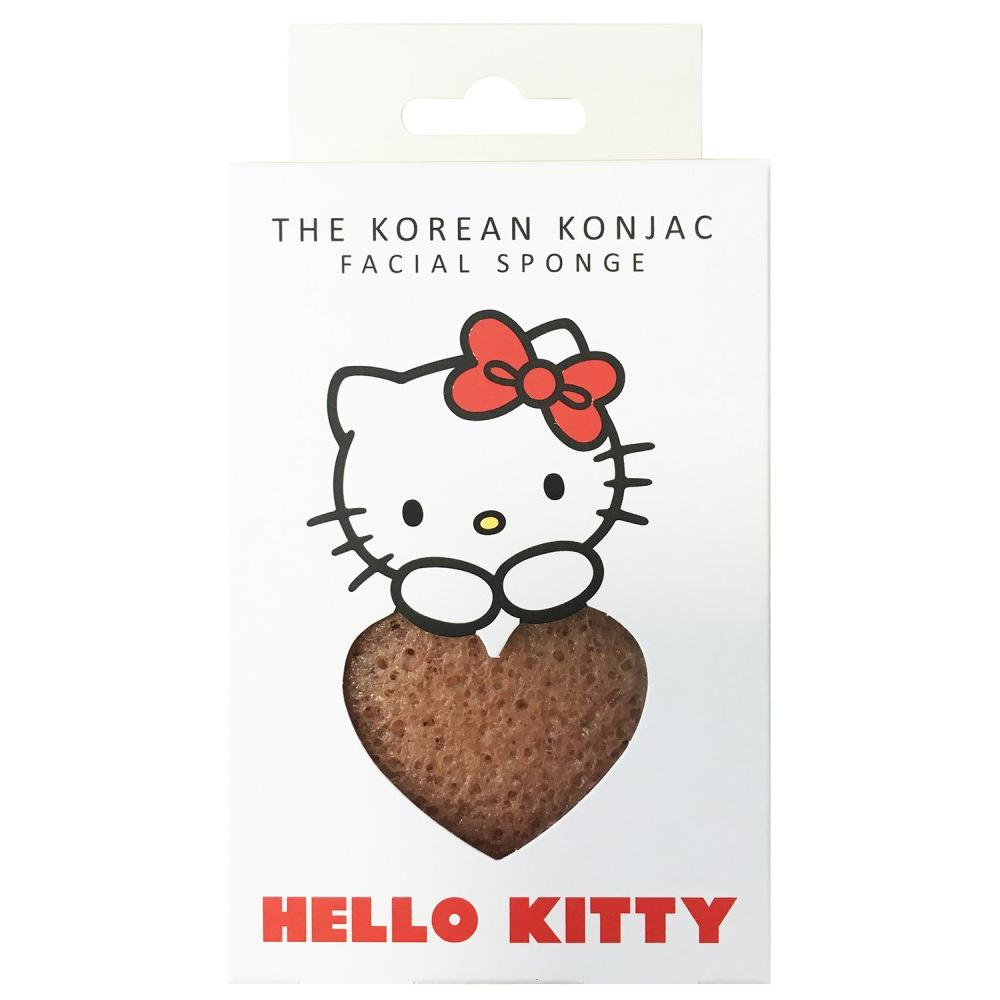 Купить Спонж для умывания лица Konjac Sponge Hello Kitty Pink Clay с крючком в комплекте, The Konjac Sponge (Великобритания)