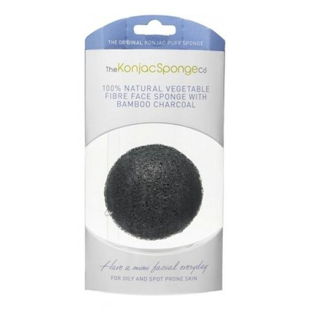 Купить Спонж для умывания лица Premium Facial Puff with Bamboo Charcoal, The Konjac Sponge (Великобритания)
