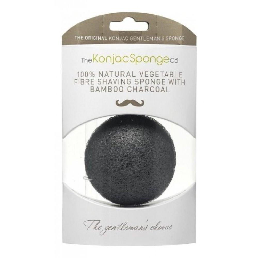 Купить Спонж для умывания лица мужской Premium Gentlemen's Sponge with Bamboo Charcoal, The Konjac Sponge (Великобритания)